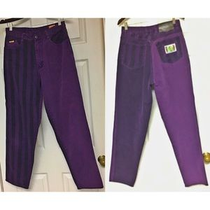 Vintage Paco 90s Men's Jeans Purple Stripes 32